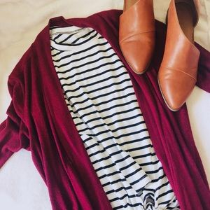 Tops - Shein    black and white striped top